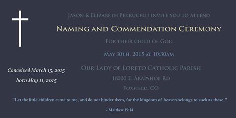 Commendation Invitation for Miscarriage