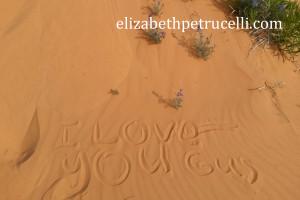 Memory of Gus at Coral Pink Sand Dunes