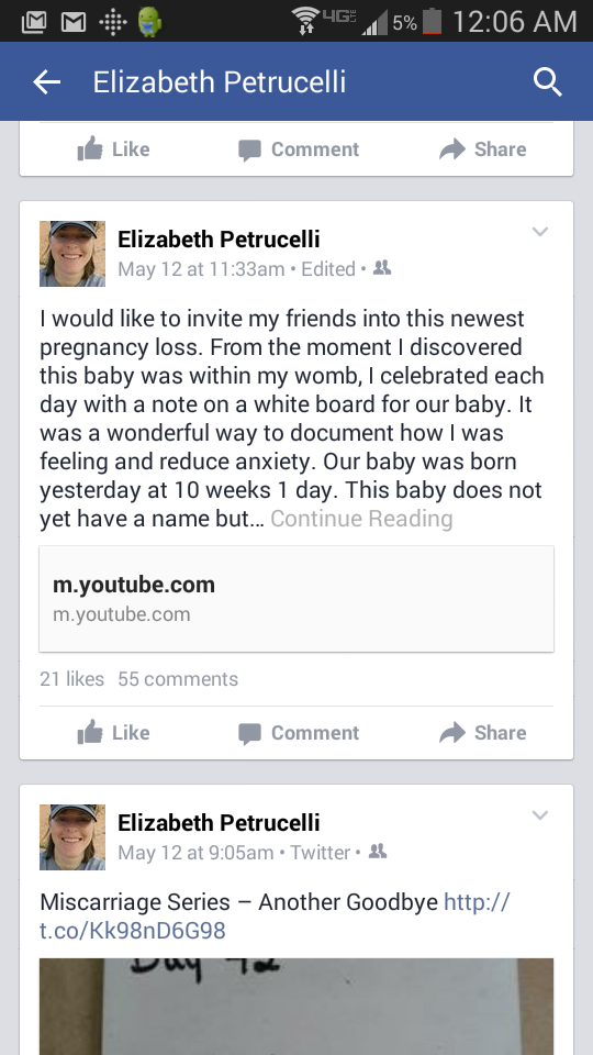 announcing a miscarriage on facebook. Black Bedroom Furniture Sets. Home Design Ideas